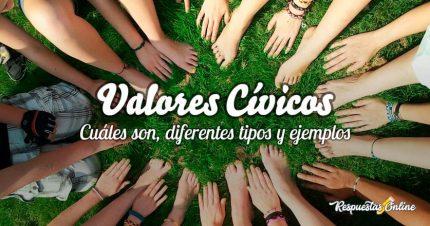 Diferentes tipos de valores cívicos y ejemplos