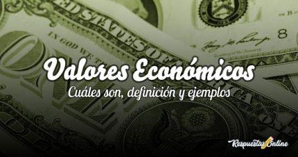 Definición y ejemplos de valores económicos