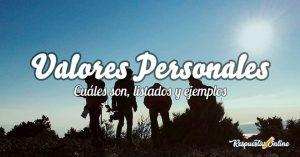 Principales valores personales